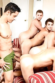 Rafael Alencar, Dylan Knight, Jack Radley, Zac Stevens and Johnny Rapid fuck each other