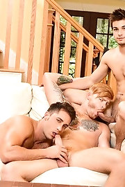 Johnny Rapid, Bennett Anthony, Adam Bryant, Armando De Armas and Darin Silvers fuck each other